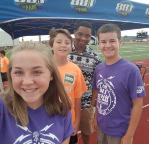 Sunshine Skills and Drills Football Clinic Rebekah Anthony Sam and Connor